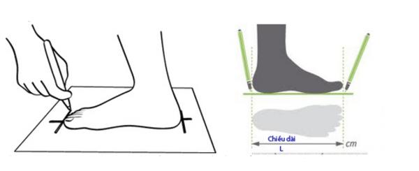 Cách đo size giày