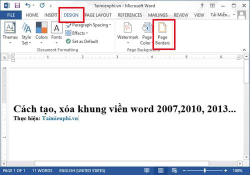Cách xóa viền trang trong Word